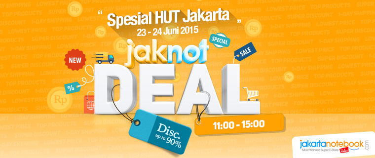 JAKNOT DEAL spesial HUT DKI Jakarta DISCOUNT up to 90%