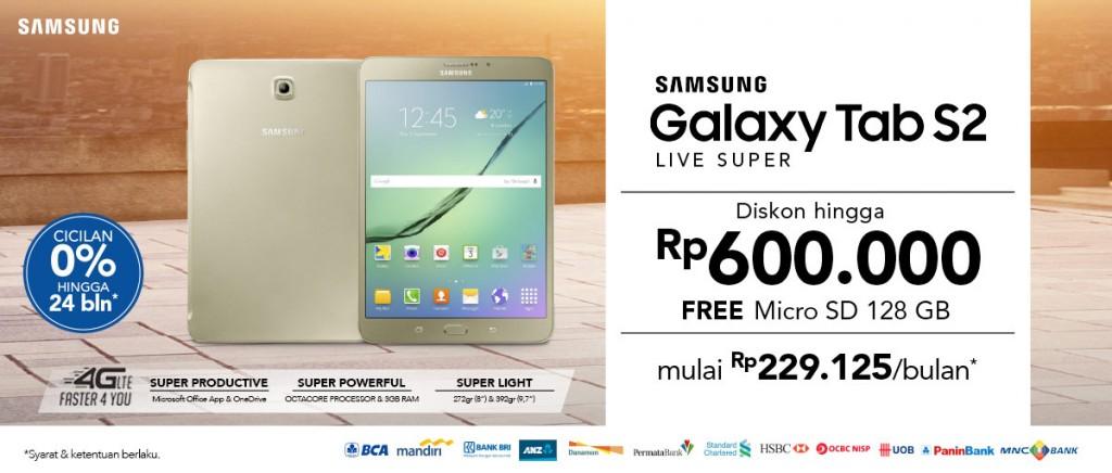 Samsung Galaxy Tab S2 Diskon Rp600 Ribu Gratis MicroSD