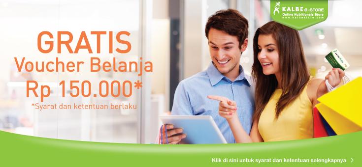 Gratis Voucher Belanja Rp 150.000 Bagi New Member Kalbe Family
