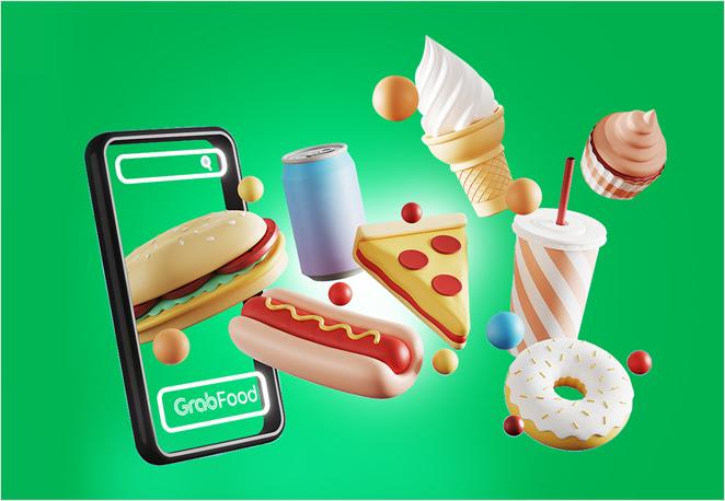 Makan kenyang, hati pun senang, dengan Potongan Hingga Rp50 Ribu di GrabFood!